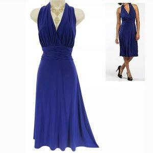 16 XL 1X▪️ROYAL BLUE RUCHED WAIST MARILYN DRESS